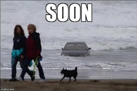 Soon Car Meme - 5 soon car in the ocean dump a day
