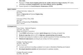 Industrial Engineer Resume Examples by Lean Manufacturing Engineer Resume Sample Lean Manufacturing