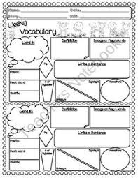 vocabulary worksheet word of the day week i love teaching