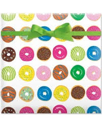 donut wrapping paper here s a great price on sweet sinkers jumbo rolled birthday gift