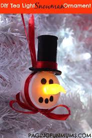 tea light snowman ornament paging mums