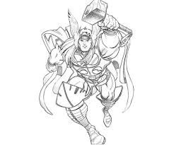 Thor The Mighty God Coloring Page Netart Thor Coloring Page