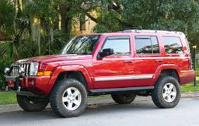lifted jeep red a commander 2006 2010 xk