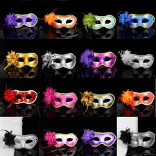masquerade masks in bulk women fashion party side flower masquerade masks
