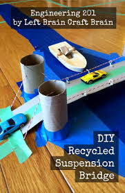 diy engineering projects engineering 201 diy recycled suspension bridge diy recycle