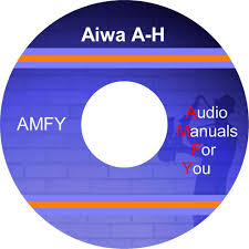aiwa service manuals owners manuals and schematics on 2 dvd all