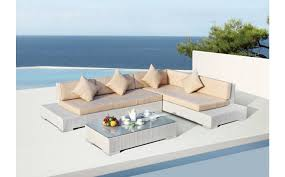 Patio Sectional Sofa 7pc Outdoor Wicker Sectional Sofa Rattan Patio Furniture White