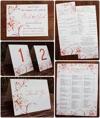 Making Wedding Programs Red U0026 Orange Lily Modern Wedding Invitations Save The Dates