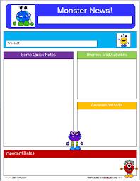 1 2 3 learn curriculum monster newsletter template