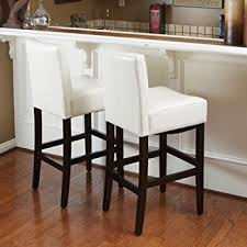 best counter stools amazon com best selling lopez leather counter stool ivory set of