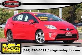 used cars toyota prius 59 certified pre owned toyotas in stock elk grove toyota