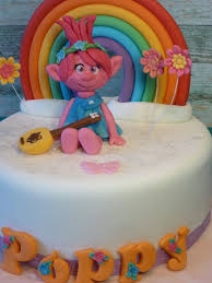 princess poppy troll rainbow handmade personalised birthday cake