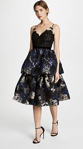 cocktail dress marchesa notte two tiered cocktail dress shopbop