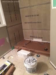 master bathroom renovation tile grout burger