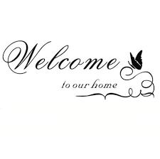 compare prices on stencil quotes online shopping buy low price welcome to our home wall quote sticker decal mural stencil vinyl print wall art china