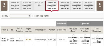 a lot of award availability for etihad u0027s residence if you have a