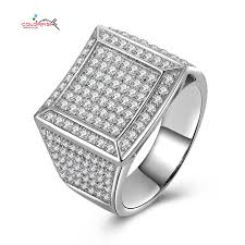 small stone rings images Colorfish micro pave round halo male engagement ring with 225 jpg