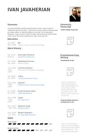 Host Resume Sample by Associate Producer Resume Samples Visualcv Resume Samples Database