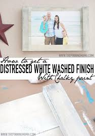 how to get a distressed white wash finish with chalky paint the