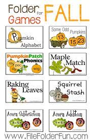 fall file folder pumpkins leaves apples thanksgiving