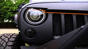 jeep angry headlights front matt black angry birds grille grid grill by sunroadtek with