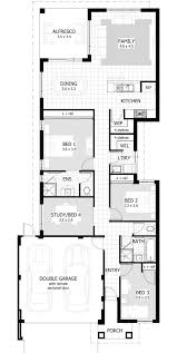 apartments narrow 2 story house plans best narrow house plans