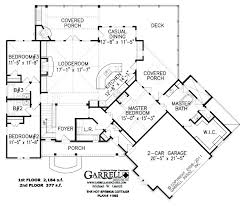 2nd Floor Plan Design Architecture Springs Cottage Blueprints For Homes With 2 Car