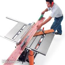 Bench Mounted Circular Saw How To Use A Table Saw Cross Cutting Family Handyman