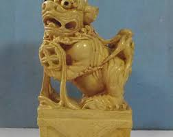 yellow foo dogs13th birthday ideas foo dog statue etsy