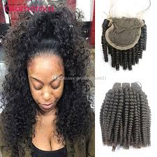 glamorous hair extensions glamorous mongolian curly hair extensions with lace closure