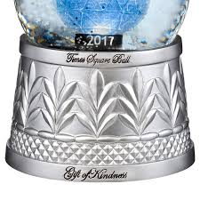 waterford times square snow globe silver superstore
