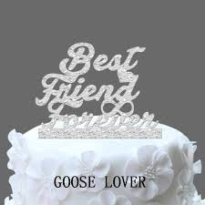 best wedding cake toppers wedding cake topper monogram best friend forever with infinity