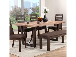 winners only venice two tone rectangular trestle table dunk