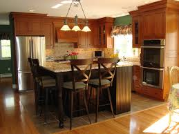 wonderful black wooden color distressed kitchen island features