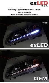 led strip lights headlights exled power led parking lights for honda accord 9th 4p