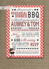 bbq rehearsal dinner invitation country rustic red gingham bridal