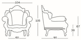 Armchair Measurements Magis Proust Armchair Shop Online On Ciatdesign