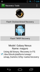 clockworkmod apk one click install cwm or twrp without a reboot using recovery tools