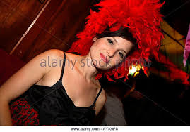 Fear Loathing Halloween Costume Woman Pulling Stockings Stock Photos U0026 Woman Pulling