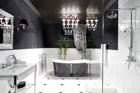 black u0026 white bathroom blinds white black colors soaking bathtub