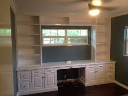 Builtin Bookshelves by Tampa Florida Custom Carpentry Work Built In Bookcase From Poplar