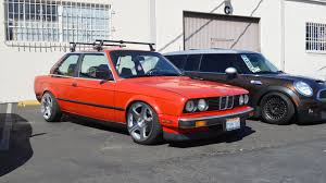 bmw e30 slammed red bmw at illest
