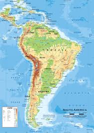 Map De Central America by Map Of Latin America South America Physical And Political