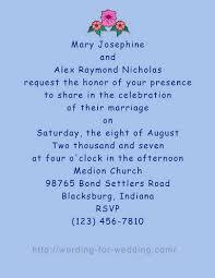wedding invite wording samples in formal by bride and groom