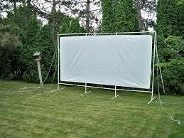 Backyard Projector Screen by Outdoor Movie Screen Dustin Westaby