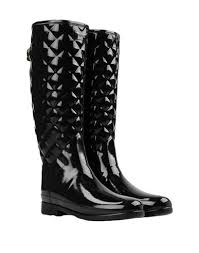 yoox s boots refined gloss quilt boots boots