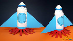 space rocket kids crafts diy youtube