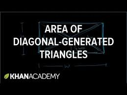 area of diagonal generated triangles video khan academy