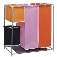 laundry separator hamper vidaxl co uk 3 section laundry sorter hamper with a washing bin