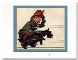 vintage scottish terrier cards from paw